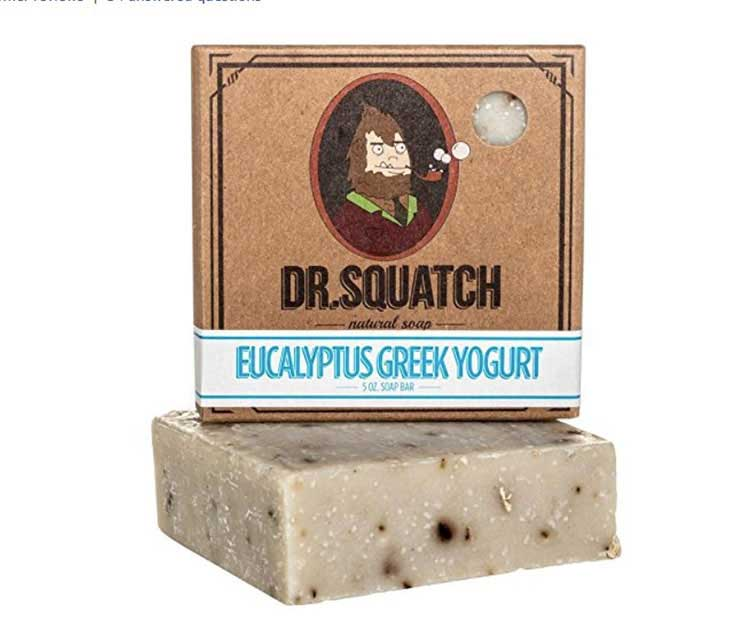 Dr. Squatch for Men Pine Tar Soap, Handmade Soap with Pine Tar, Coconut and Olive Oil