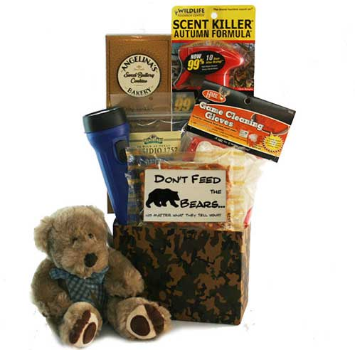 Don't-feed-the-Bears-Hunting-Gift-Basket