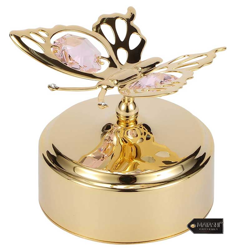 Gold-plated-Music-Box-with-Crystal-Studded-Butterfly