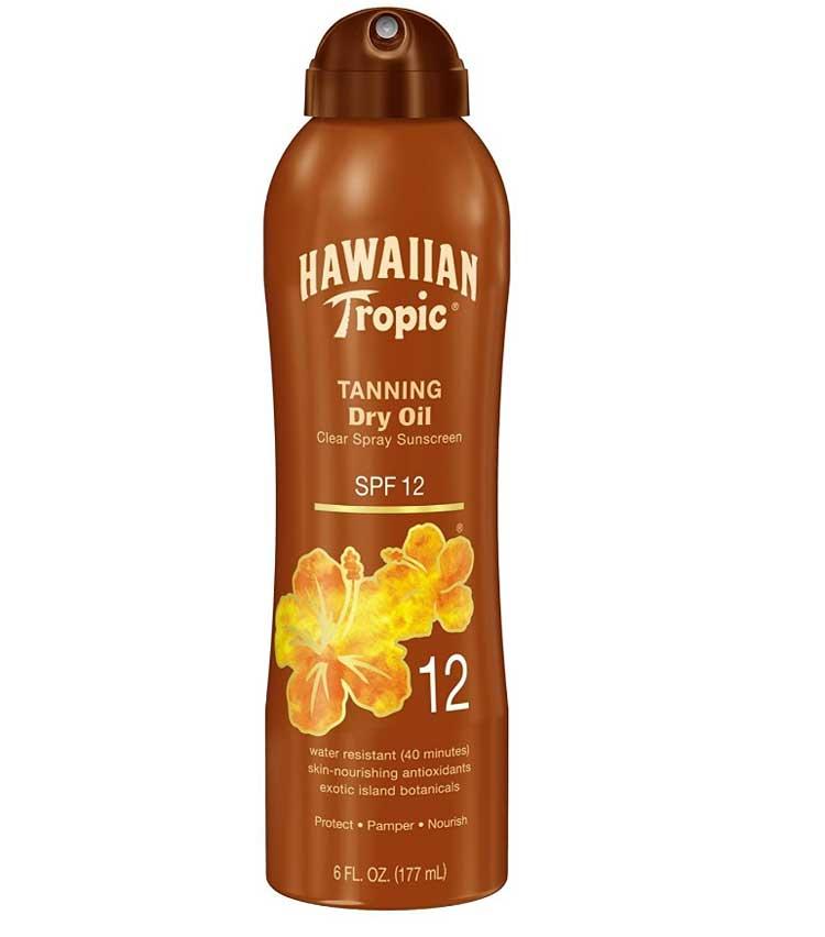 Hawaiian-Tropic-Dry-Oil-Clear-Sprays